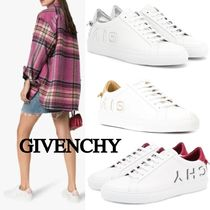 GIVENCHY Round Toe Rubber Sole Lace-up Casual Style Plain