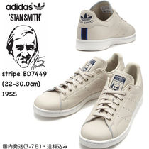 adidas STAN SMITH Stripes Rubber Sole Casual Style Unisex Street Style Plain