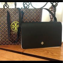 Tory Burch Saffiano Plain Party Style Shoulder Bags