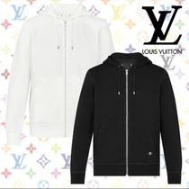Louis Vuitton Blended Fabrics Long Sleeves Plain Cotton Hoodies