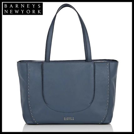 f7263217b5 Studded Street Style A4 Plain Leather Elegant Style Totes. Barneys New York.  Studded ...