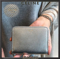 CELINE Unisex Calfskin Plain Coin Cases