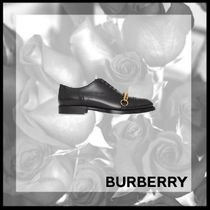 Burberry Loafers Street Style Chain Plain Leather Loafers & Slip-ons