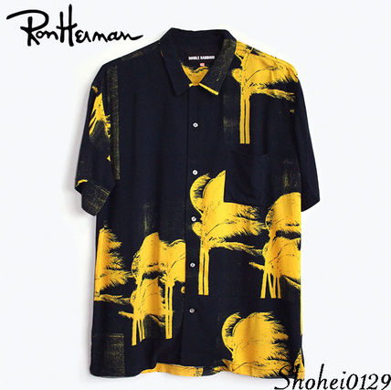 Ron Herman Shirts Tropical Patterns Unisex Short Sleeves Handmade Shirts