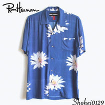 Ron Herman Flower Patterns Tropical Patterns Unisex Short Sleeves