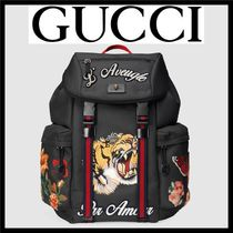GUCCI Flower Patterns Unisex Canvas Street Style A4 2WAY