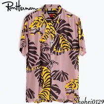 Ron Herman Leopard Patterns Tropical Patterns Unisex Short Sleeves