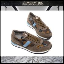 MONCLER Camouflage Blended Fabrics Street Style Sneakers