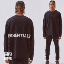 FEAR OF GOD ESSENTIALS Street Style U-Neck Collaboration Long Sleeves Cotton