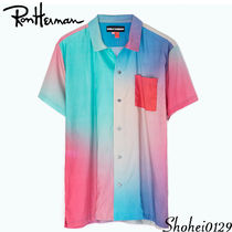 Ron Herman Tropical Patterns Unisex Cotton Short Sleeves Handmade