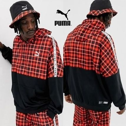PUMA Hoodies Pullovers Other Check Patterns Sweat Street Style