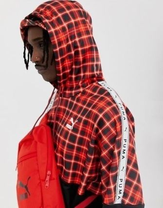 PUMA Hoodies Pullovers Other Check Patterns Sweat Street Style 4