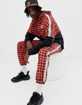 PUMA Hoodies Pullovers Other Check Patterns Sweat Street Style 5