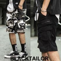 BLACKTAILOR Camouflage Collaboration Plain Cargo Shorts