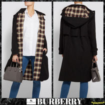 Burberry Plain Long Elegant Style Coats
