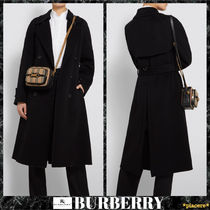 Burberry Cashmere Plain Long Elegant Style Coats