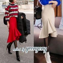Pencil Skirts Plain Long Midi Office Style Maxi Skirts