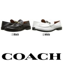 Coach Chain Plain Leather Loafer Pumps & Mules