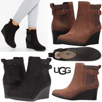 UGG Australia Plain Toe Casual Style Blended Fabrics Plain Leather