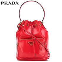 PRADA Casual Style Calfskin 2WAY Plain Handbags