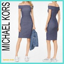 Michael Kors Short Tight Plain Dresses