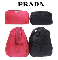 PRADA Nylon Plain Pouches & Cosmetic Bags