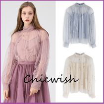 Chicwish Medium With Jewels Elegant Style Shirts & Blouses