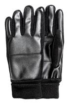 H&M Faux Fur Street Style Plain Leather & Faux Leather Gloves