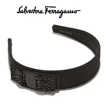 Salvatore Ferragamo Blended Fabrics Brass Elegant Style Headbands