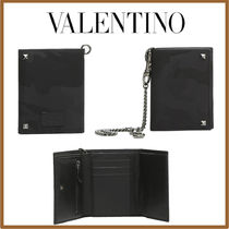 VALENTINO Camouflage Nylon Chain Folding Wallets