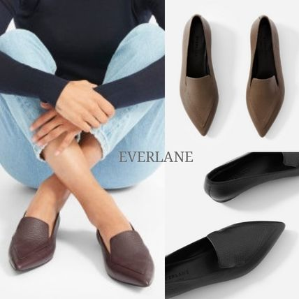 Leather Loafer Pumps & Mules