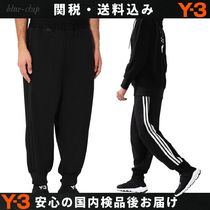 Y-3 Stripes Street Style Plain Sarouel Pants