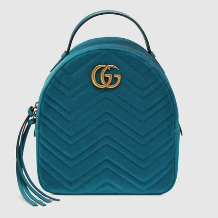 3f3f0bac3bf0 GUCCI GG Marmont 2018-19AW Casual Style Suede Chain Plain Backpacks ...