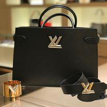 Louis Vuitton TWIST Blended Fabrics 2WAY Plain Leather Elegant Style Totes