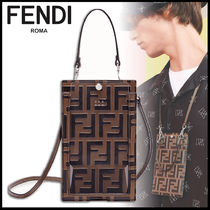 FENDI Monogram Calfskin Wallets & Small Goods