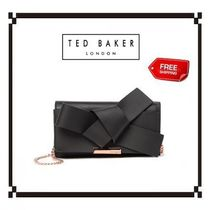 TED BAKER Plain Leather Party Style Party Bags