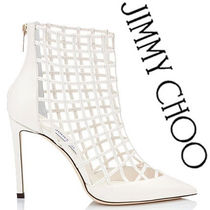 Jimmy Choo Other Check Patterns Leather Pin Heels Elegant Style