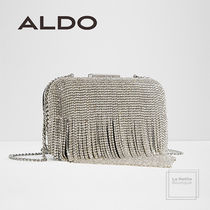 ALDO 2WAY Chain Plain Party Style With Jewels Clutches