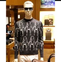 Louis Vuitton Crew Neck Pullovers Silk Blended Fabrics Street Style