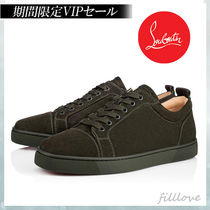 Christian Louboutin LOUIS Suede Street Style Plain Handmade Sneakers