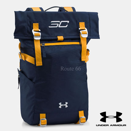 UA x SC30 Curry Signature Roll Top Backpack (Navy Blue)