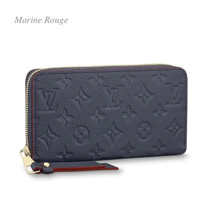 Louis Vuitton Long Wallets Monogram Plain Leather Long Wallets 5