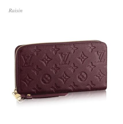Louis Vuitton Long Wallets Monogram Plain Leather Long Wallets 20