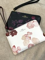 Coach Flower Patterns Blended Fabrics Leather