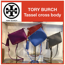Tory Burch Casual Style Tassel Leather Shoulder Bags