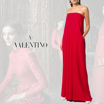 VALENTINO Maxi Silk Blended Fabrics Plain Long Home Party Ideas