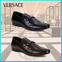 VERSACE Loafers Plain Leather Loafers & Slip-ons
