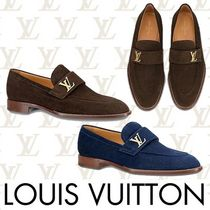 Louis Vuitton Loafers Plain Leather U Tips Shoes