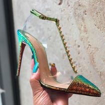 16a65dd4ce6 Christian Louboutin Nosy Blended Fabrics Studded Pin Heels Party Style PVC  Clothing
