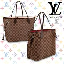 Louis Vuitton NEVERFULL Other Check Patterns Blended Fabrics Tassel 2WAY Leather